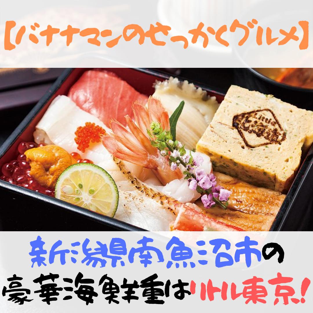 【バナナマンのせっかくグルメ】新潟県南魚沼市の豪華海鮮重はココ!